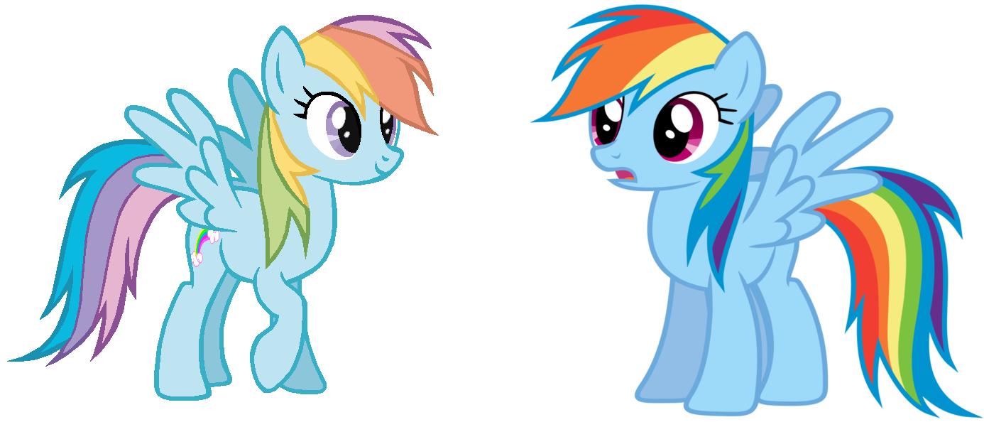 Rainbow Dash Clone Rainbow Dash Meets Rainbow