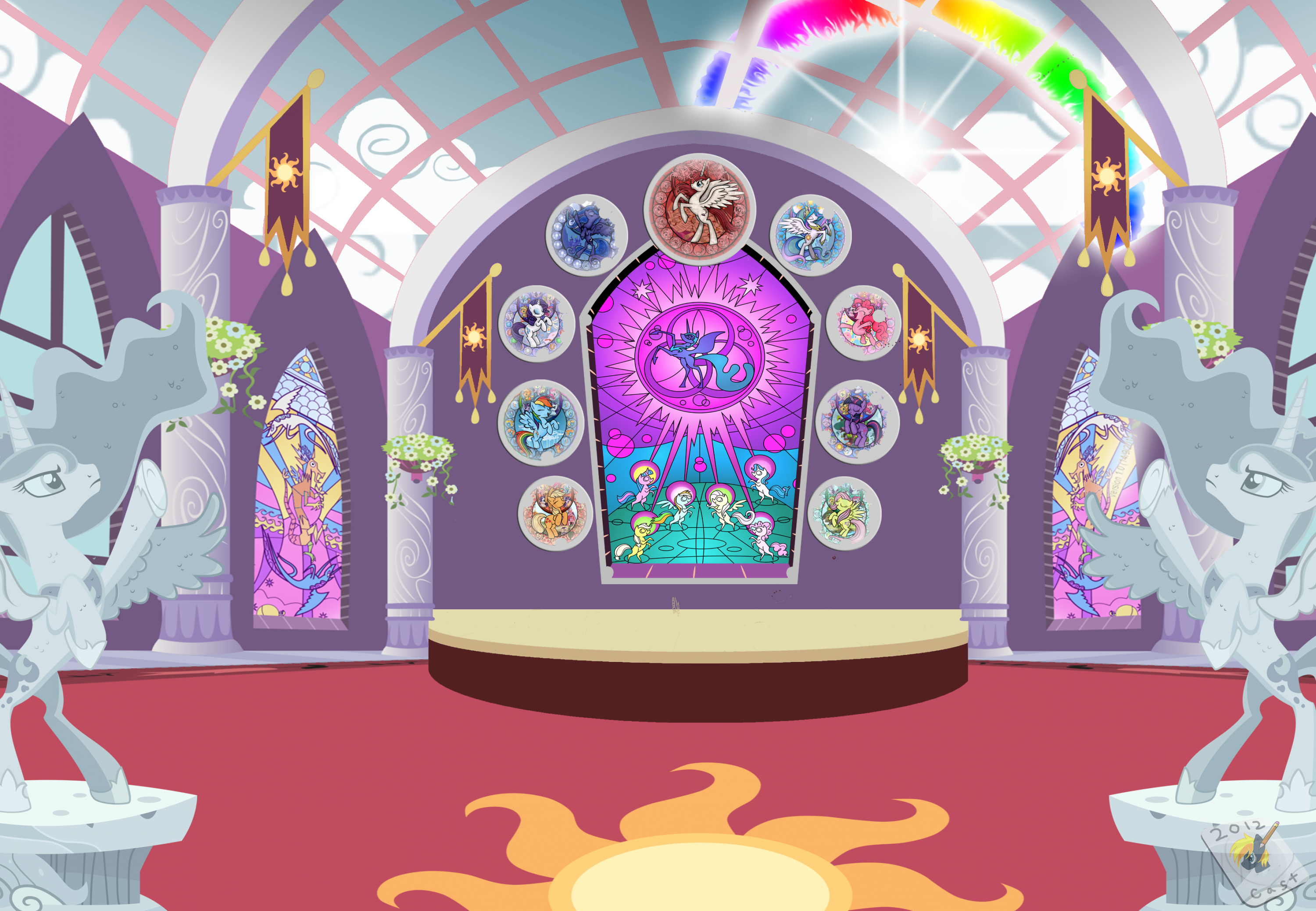 prince lightning and pinkie wedding scene visual fan art