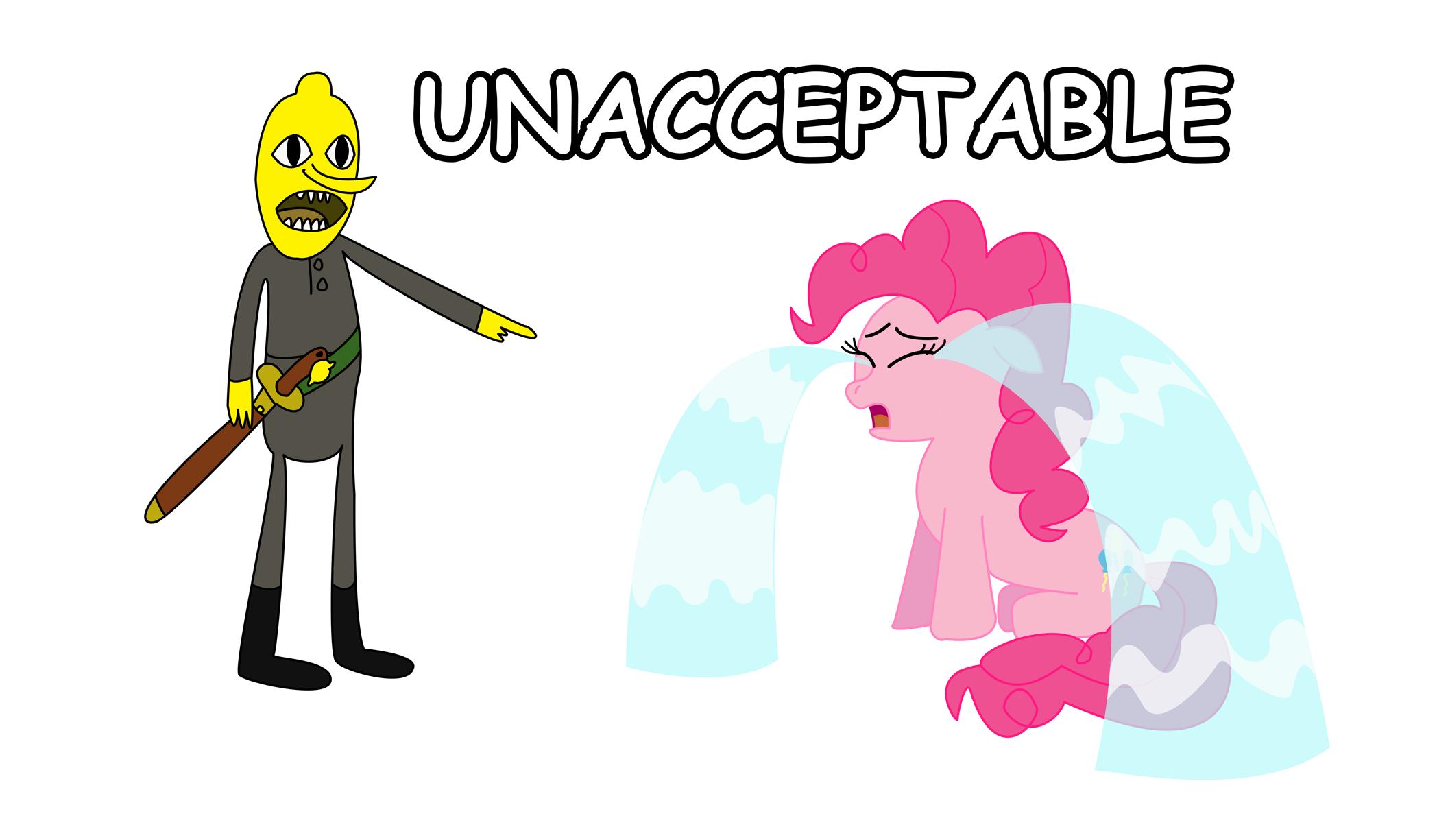 Lemongrab Makes Pinkie Pie Cry