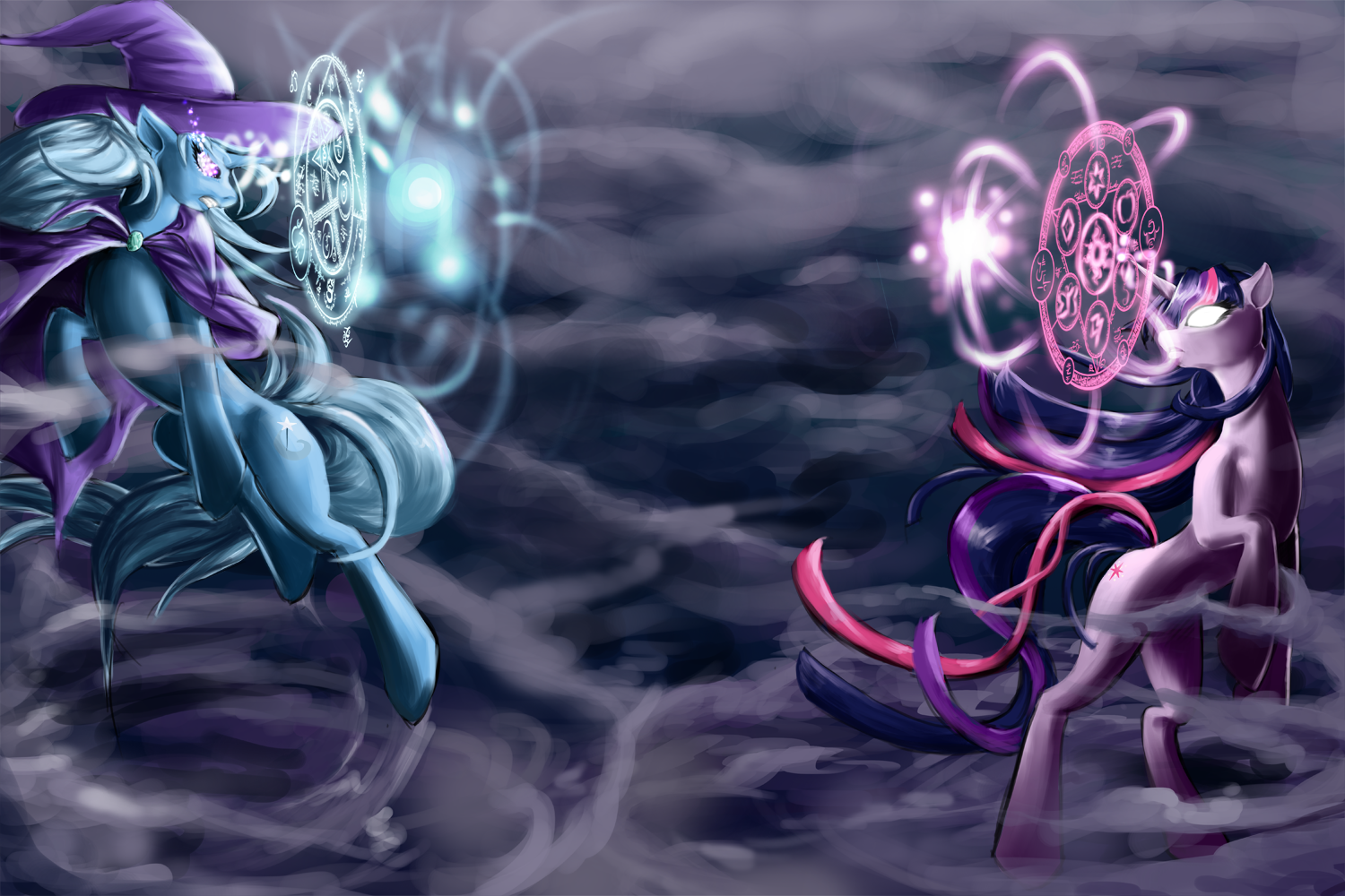 104935 Artist Laweegie Battle Fight Ma The Darkness That Is Twilight By Lavosvs Great And Powerful Trixie Pon