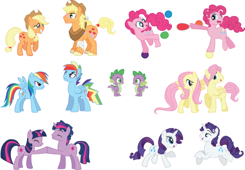 If The Mane 6 Were Male Fim Show Discussion Mlp Forums