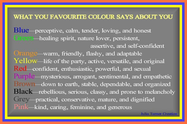 What Your Favorite Color Says About You Forum Games