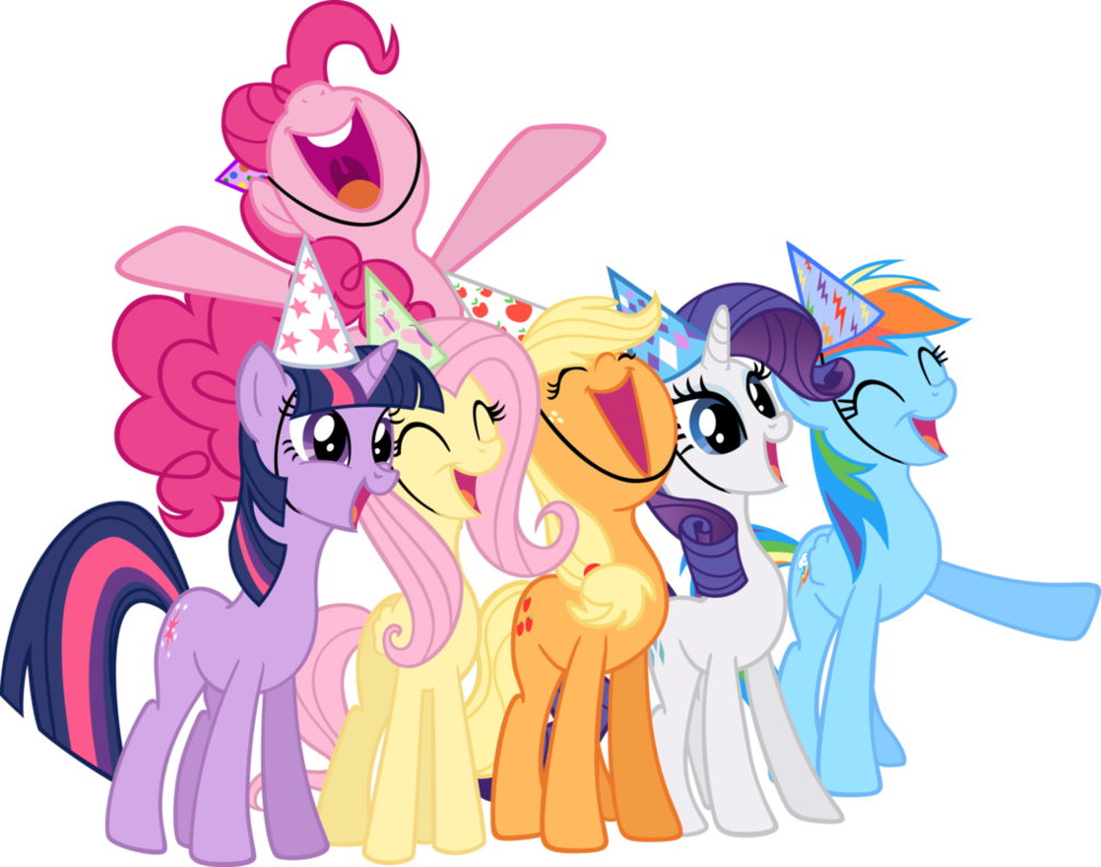 mane_six_life_of_the_party_vectors_by_sh