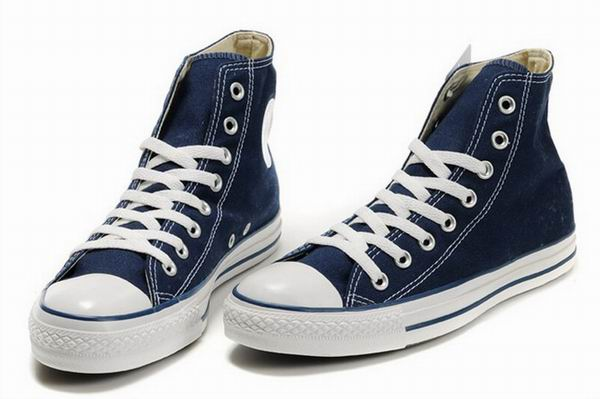 Dark Blue Canvas Shoes