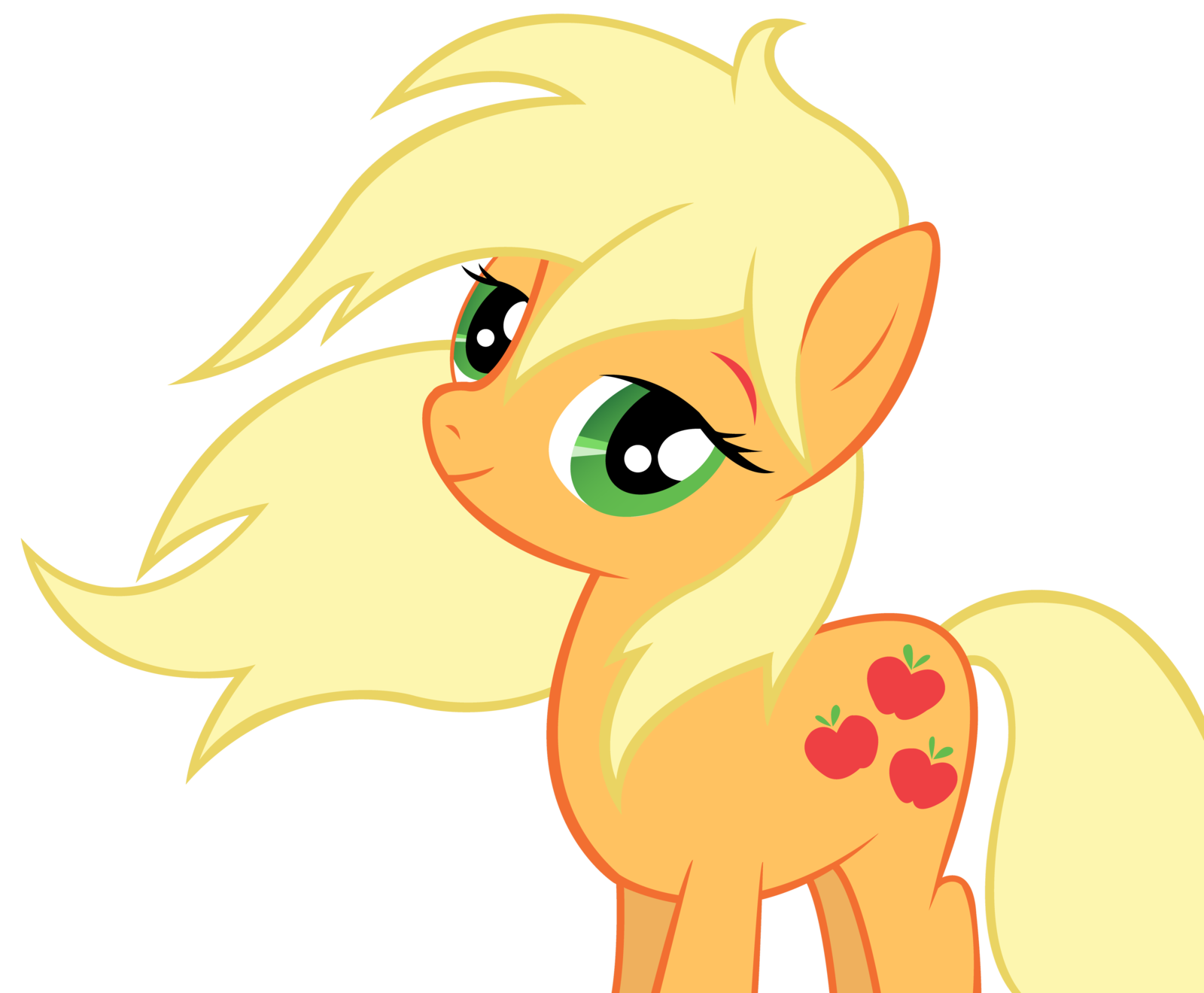 applejack_lets_her_hair_down_vector_by_w