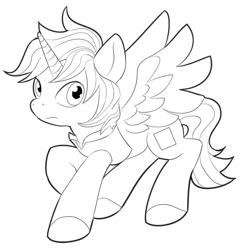 My Little Pony Alicorn Coloring Pages : Alicorn coloring pages bltidm