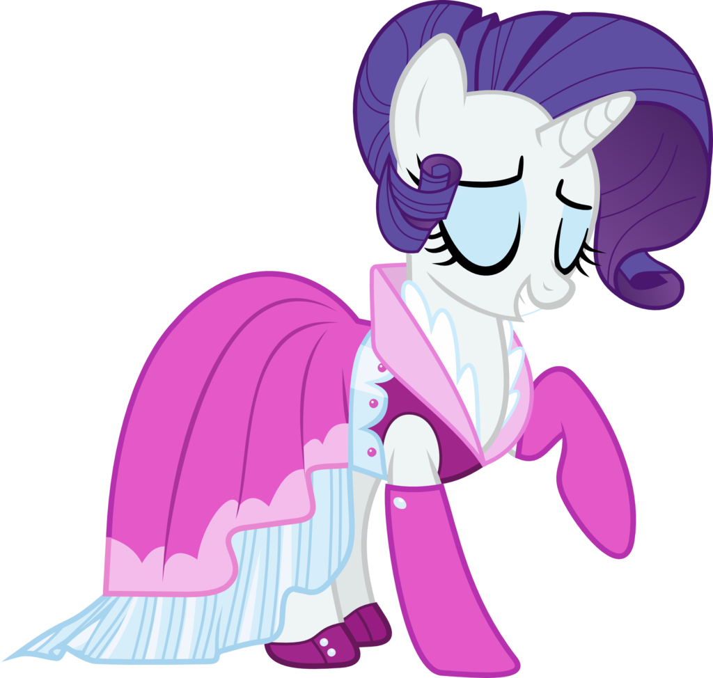 rarity_new_dress_vector_by_crimsonbeat-d