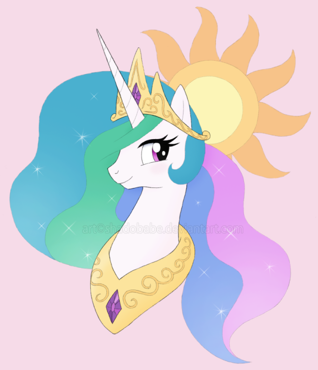 princess_celestia_bust_by_shadobabe-d75b