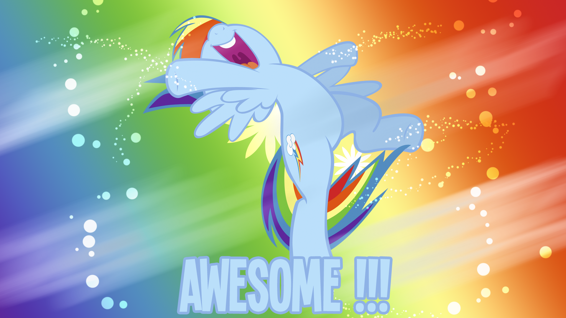 Awesome Rainbow Dash Wallpaper By Bluedr