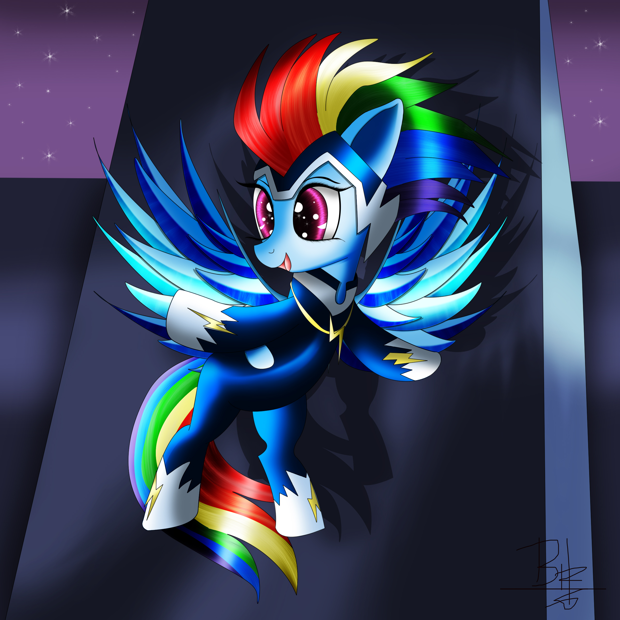 elemental_pony_eletric___rainbow_dash_by