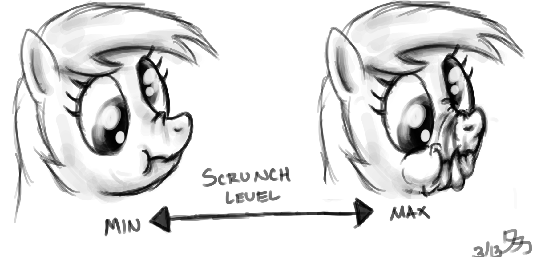 Derpy Hooves Scrunchy Face The Scrunchy Face/Nose...