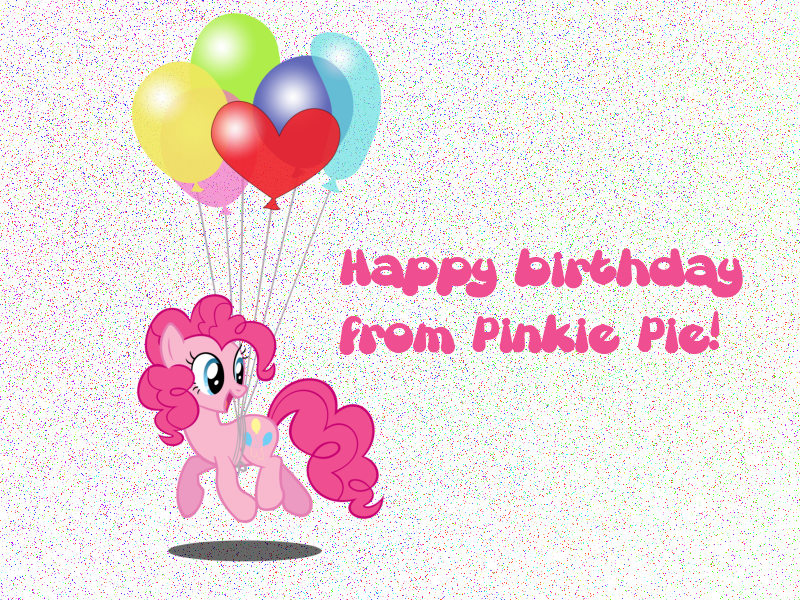 Happy Birthday Pinkie Pie Cake