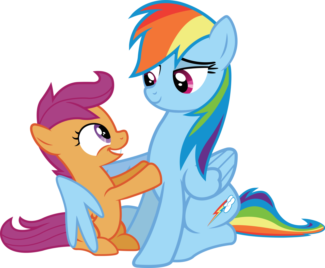 scootaloo_and_rainbow_by_birthofthepheon