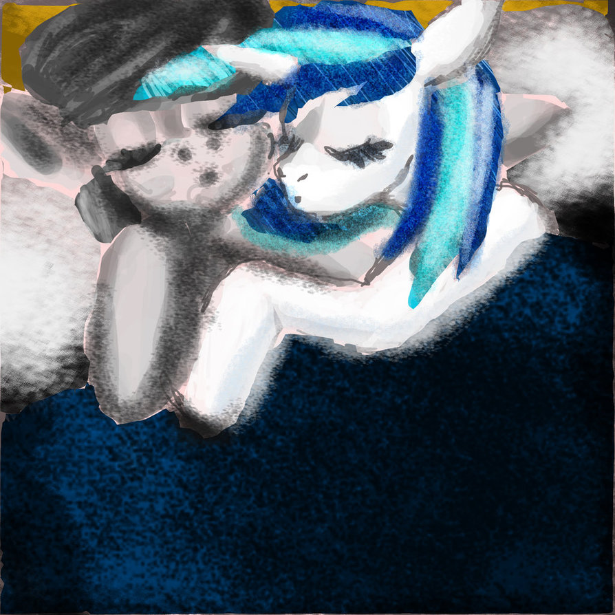 Vinyl And Octavia Sleepy Snuggles Visual Fan Art Mlp