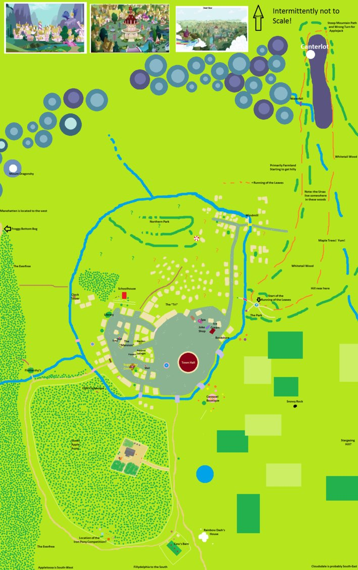 Map Of Ponyville Ponyville Map   FiM Show Discussion   MLP Forums