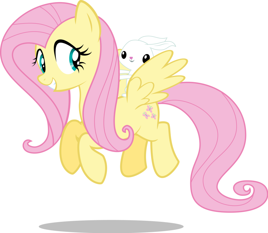mlp__fluttershy_and_angel_flying_by_mewt