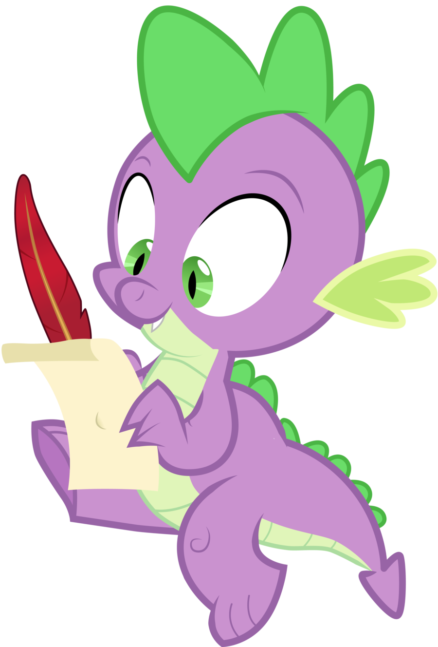spike_writing_a_letter_by_vectorshy-d52q