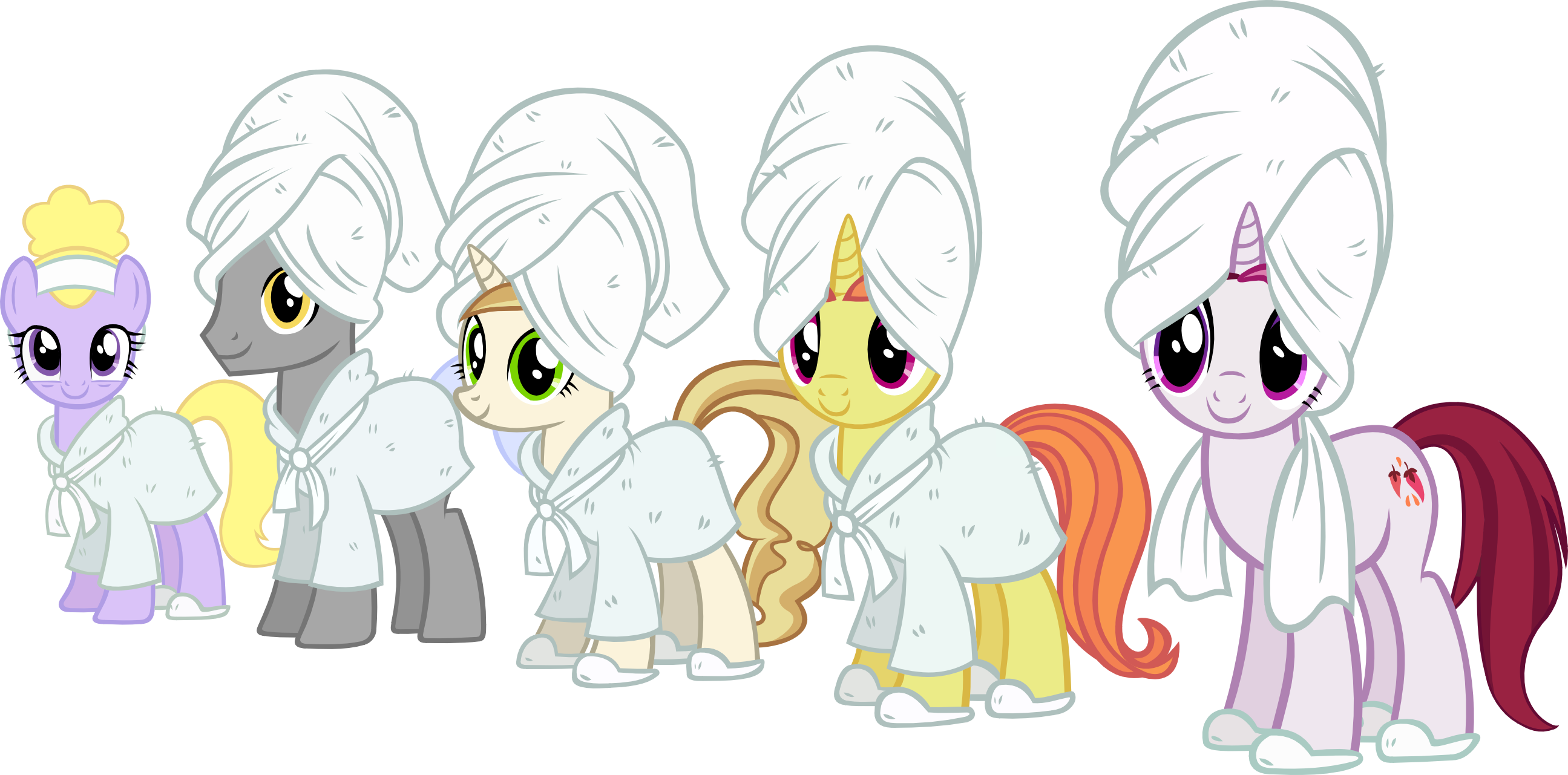 canterlot_spa_ponies_by_ironm17-dajrc2p.