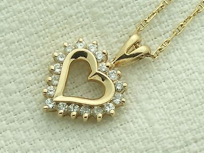 estate_14k_yellow_gold_diamond_heart_pen